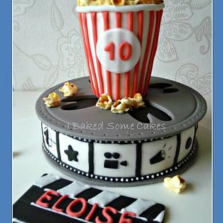 Movie and Popcorn - Cake by Julie, I Baked Some Cakes