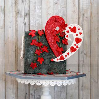 Caker buddies valentine collaboration- wall of Love  - Cake by Archana