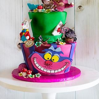 Alice In wonderland  - Cake by Piece O'Cake