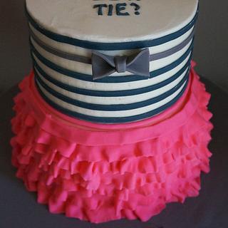 Bow Tie and Tutu Gender Reveal - wow, an original design