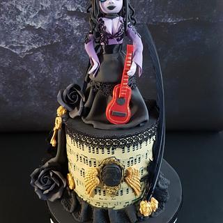 Gothic steampunk music cake