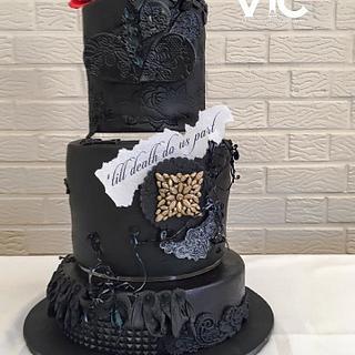 Wedding cake Rock-Biker - Cake by VIC