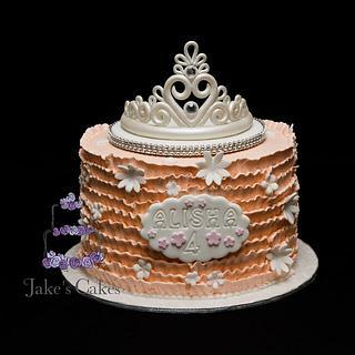 Tiara Ruffle cake
