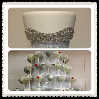 Silver bling - Cake by CakesbyCorrina