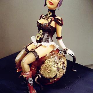 Steampunk lady - Cake by Olanuta Alexandra