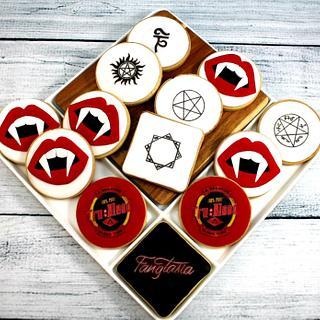 True Blood and Supernatural theme cookies - Cake by Kake Krumbs