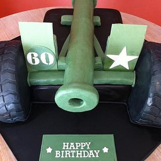 Ready, Aim, Fire! 3D cannon cake
