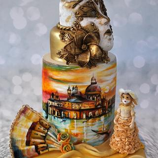 Carnival Cakers Collaboration:  Golden Skies of Venice
