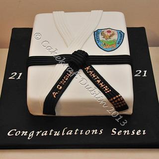 Karate Suit Cake - Cake by CakekraftDublin