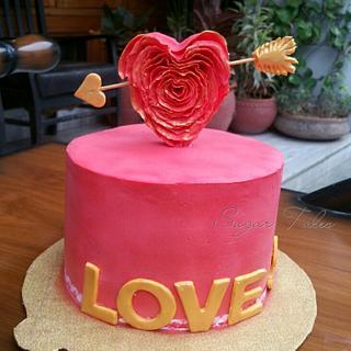 Love Struck - Cake by Sugar Tales