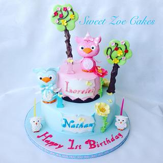 Baby Owls Cake