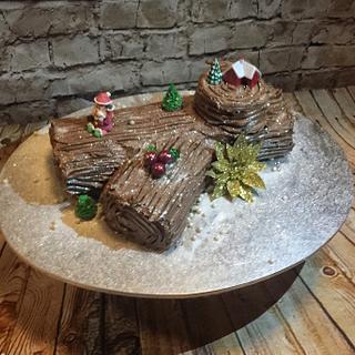 Bûche de Noel or Yuel log Cake - Cake by Inspired Sweetness