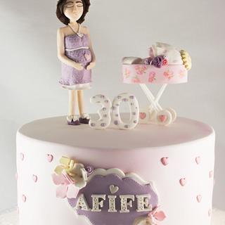 Wondrous Mom To Be Birthday Cake 4 Cakes Cakesdecor Personalised Birthday Cards Cominlily Jamesorg