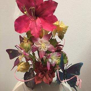 Unusual sugar flower spray - Cake by 59 sweets