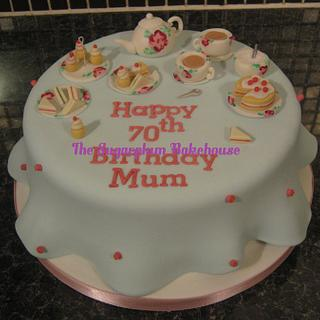 Afternoon Tea themed Cake - Cath Kidston Inspired
