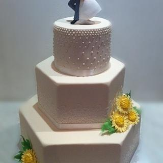 Wedding cake - Cake by Caracarla