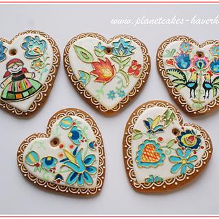 Polish folk gingerbread cookies