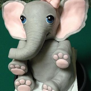 Sweet Baby Elephant themed baby shower! - Cake by Kyrie ~ Just Get Baked