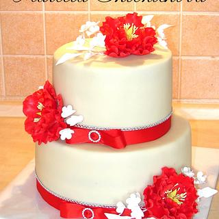 peony cake - Cake by MarcelkaS