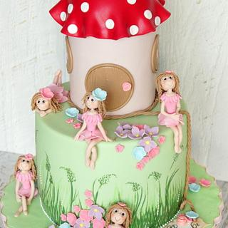cake with fairies