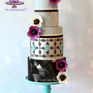 ANEMONE Cake for Floral Cakes Collaboration in Cake Craft Guide Magazine
