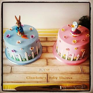 Peter Rabbit Babyshower Cake