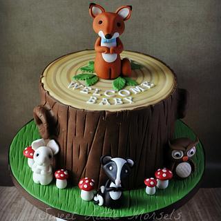 Welcome Baby Woodland Cake