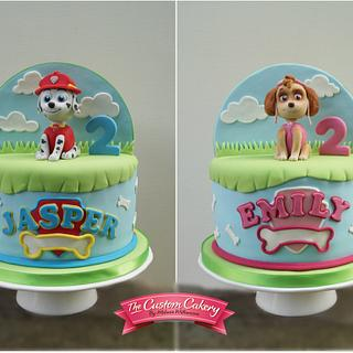 Paw Patrol Double Sided Cake  - Cake by The Custom Cakery