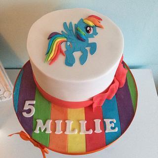 Cute my little pony cake
