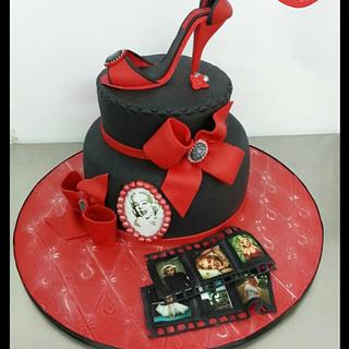 Marilyn cake 60 years old - Cake by ROCIO ( Mis dulces dias )