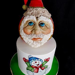Santa Bauble Cake