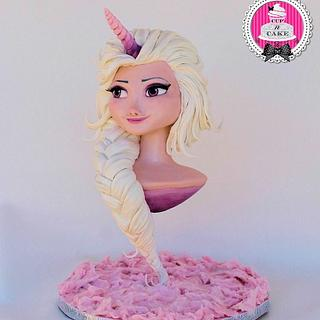 Unicorn Elsa Disney Deviant sugar art collaboration