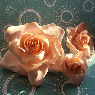 Assorted gum paste flowers (Roses, Chrysantemum, Parrot Tulip)