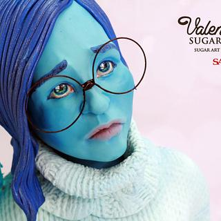 Sadness -Disney Deviant Cake Art Collaboration