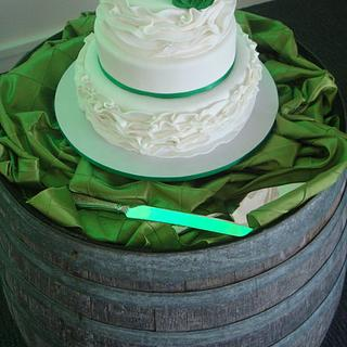 Spring Green with ruffled tiers.
