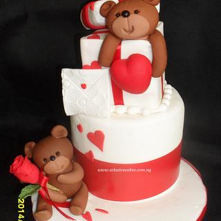 Val teddies - Cake by Xclusive