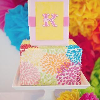 Pom pom inspired cake