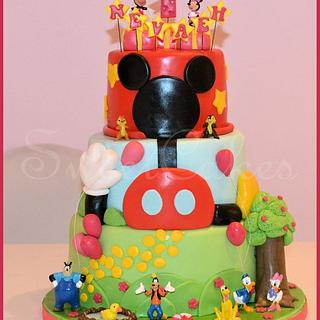 3 Tier Mickey Mouse Clubhouse Cake