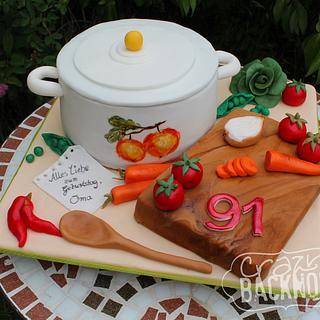 Cooking pot cake