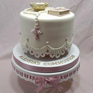 Communion Cake - Cake by Custom Cakes by Ann Marie