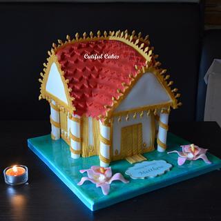 Thai temple cake