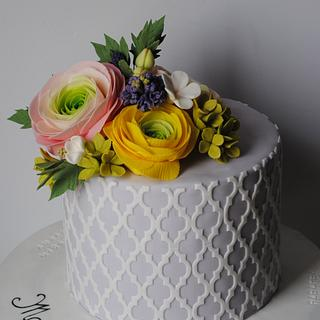 Flower bouquet cake - Cake by Rabarbar_cakery