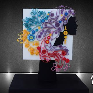 Quilling with sugar paste - Cake by Moustoula Eleni (Alchemists of cakes)