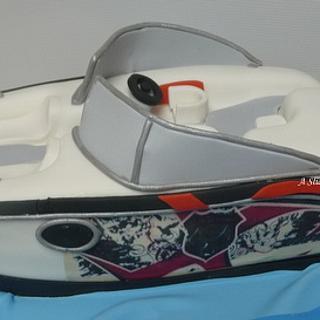 Wakeboard boat cake