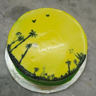 Tropical Palm Cake