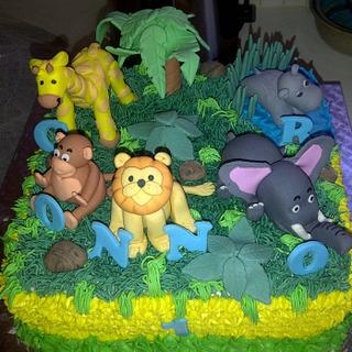 Birthday Cake - Jungle theme