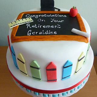 Retirement Cake for a school Teacher