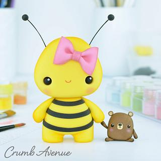 Bee Cake Topper :) - Cake by Crumb Avenue