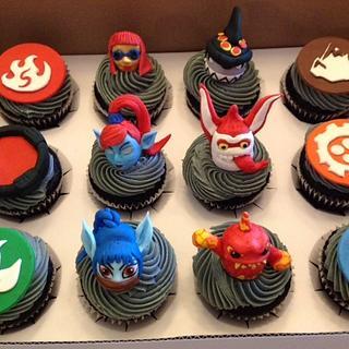 Skylander cupcakes 2nd try