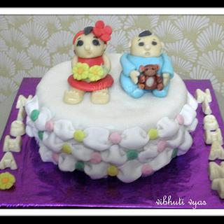cake for  6 months birthday